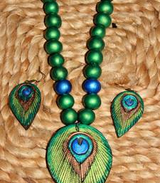 Buy Blue and green Terracotta jewellery gifts-for-girlfriend online