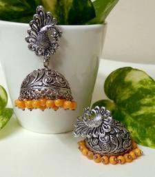 Orange agate jhumkas