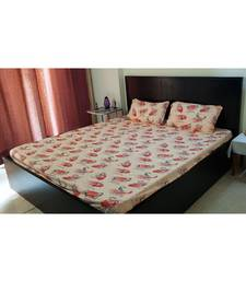 Sanwariya Handstitched 250TC Cotton Fitted King Size Bedsheet With 2 Pillow Covers