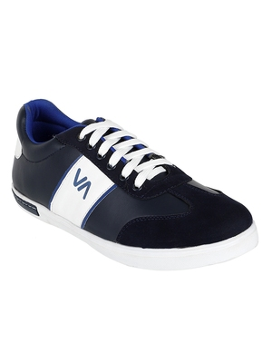 Vardhra Men's Blue Synthetic Leather Outdoor Daily Casual Sneaker Shoes
