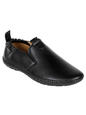 Vardhra Men's Black Synthetic Leather Outdoor Slip On Casual Loafer