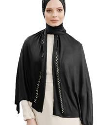 JSDC Women Casual Wear Stone Work Hosiery 4 Way Scarf Hijab Dupatta