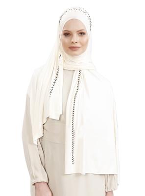 JSDC Women Hosiery 4 Way Diamond Stone Work Hijab Scarf