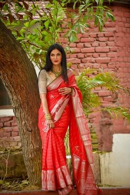 Red banarasi banarasi silk sarees