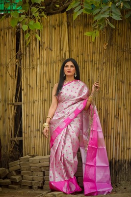 light_pink banarasi kanchipuram silk sarees