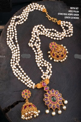 White agate necklace-sets