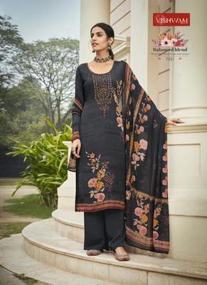 Black embroidered crepe salwar