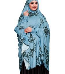 JSDC Floral Printed Spun Lycra Women Prayer Hijab Abaya