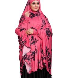 JSDC Namazi Wear Women Spun Lycra Fabric Islamic Printed Arabic Hijab Dress