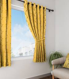 Long Size Embroidery Semi Share Window Curtains