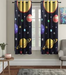 Window Curtain Set of 2 [5 Feet x 4 Feet] Digital 3D Graphic