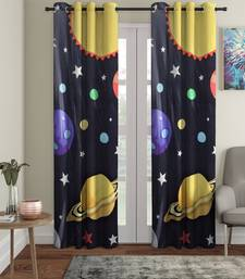Long Door Curtain Set of 2 [9 Feet x 4 Feet] Digital 3D Graphic
