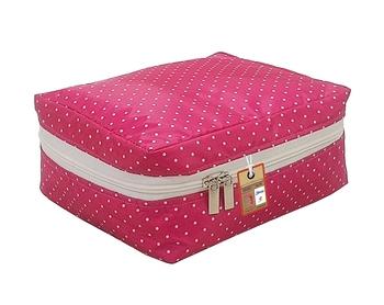 atorakushon®  Makeup Storage Box Cosmetic Vanity Necklace Travelling Wardrobe Organizer Jewellery Pouch for Women (Pink)