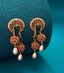 antique gold Alloy Earrings