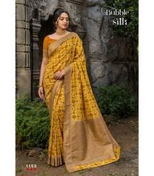 Golden gadwal sarees Traditional Saree with Contrast Border