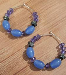 Purple agate hoops