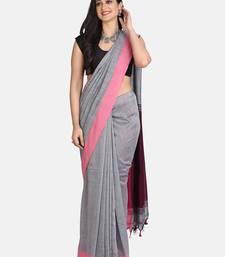 grey saree Linen cotton silk weaving work saree and blouse for women,wedding sare,indian saree,saree dress,sari,saris,designer saree