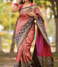Red Designer Party Wear Silk Saree