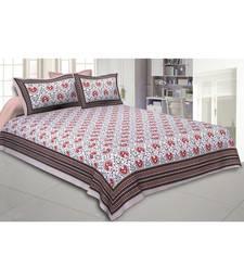 Cotton King Size 240 TC Flickering Bale Orange Double Bedsheet