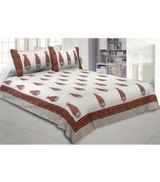 Cotton King Size 240 TC Distinct Designer Hand Block Print Double Bedsheet
