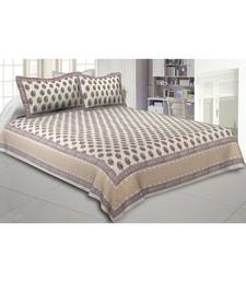 Cotton King Size 240 TC Playful Paisley Maroon Hand Block Print Double Bedsheet