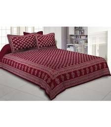 Cotton King Size 240 TC Bubbly Balls Hand Block Print Double Bedsheet