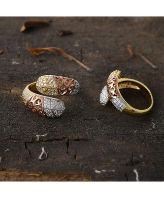 designer rose gold stylish ring