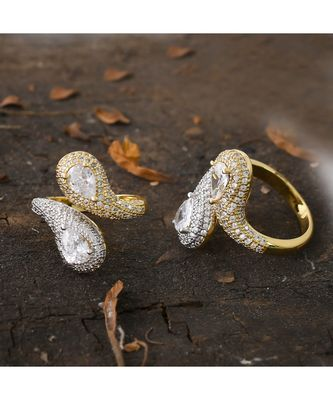 golden silver delicate ring