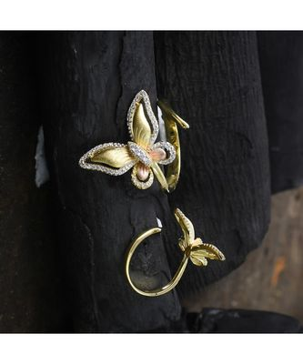 cute delicate butterfly ring