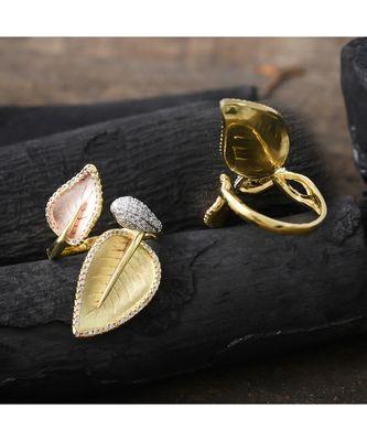 rose gold classy designer ring