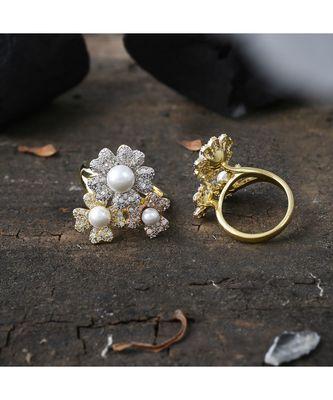 cute elegant flower design beautiful ring