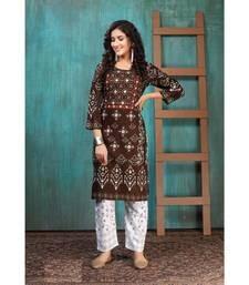 Pure Rayon Bandhani Print Kurta Sets