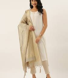 Divaastha Grey Silk Blend Banarasi Dupatta  Dupattas