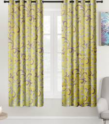 A Yellow Printed Polyester Window Curtain