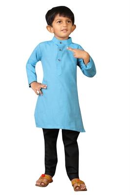 Kids Blue Kurta Pajama Set