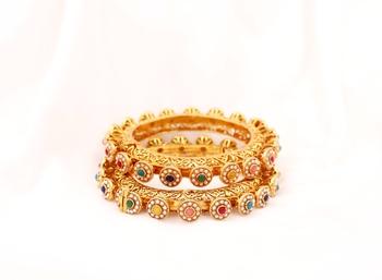 Multicolor bangles-and-bracelets