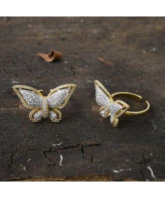 cute littele butterfly finger ring