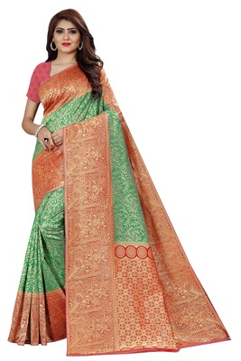 Kanchipuram Silk Tissue Saree with blouse