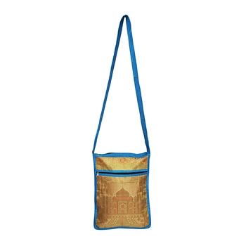 Lalhaveli Handmade Women Shoulder Bag Wedding Gift for Relatives Cross Body Bag Purse Pouch Bag (Turquoise) 10X15 Inch
