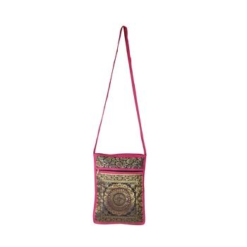Lalhaveli Ethnic & Traditional Women Fashion Handbag Brocade Silk Bag Gifts for Your Partner Cross Body Bag