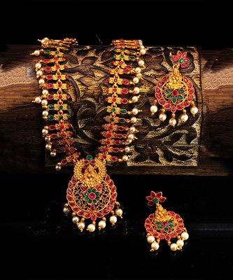 gold plated Alloy necklace-sets