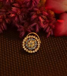 Designer 42 Diamond Turquoise cubic zirconia Bridal nose ring for Wedding