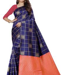 Royal blue color soft Silk Saree