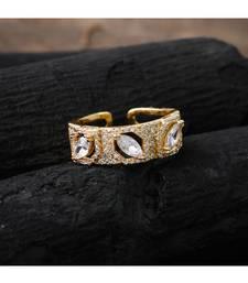 golden elegant designer diamond ring