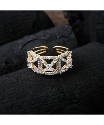golden silver designer cute diamond ring