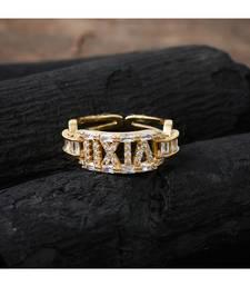 golden elegant delicate beautiful diamond ring