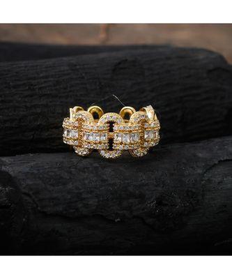 golden elegant smart look diamond ring