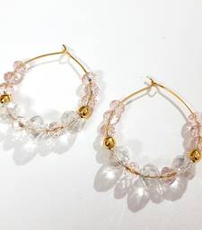 White crystal hoops