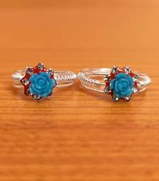 Turquoise toe-rings