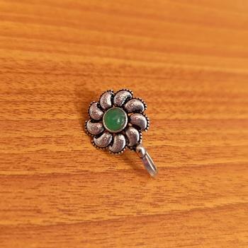 Green nose-ring